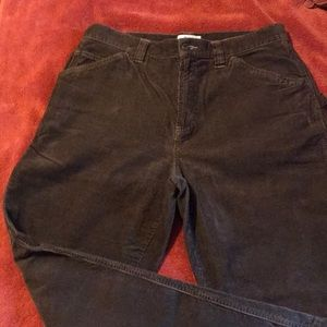 Vintage Old Navy brown corduroy carpenter pants